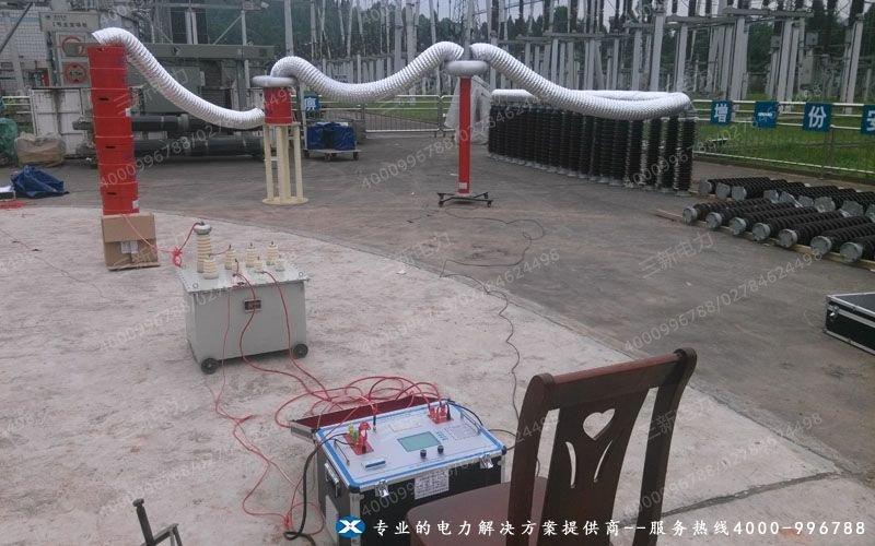 20140623串联谐振试验装置现场调试