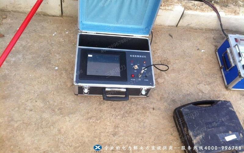 河南职业技术学院电缆故障测试仪现场试验图