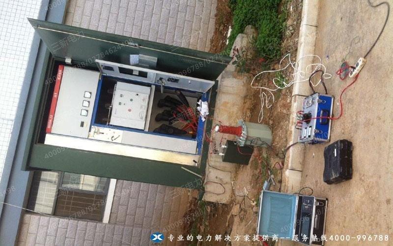 电缆故障测试仪查找电缆故障点现场试验图