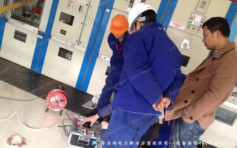 晟通科技集团单相继电保护测试仪现场调试图
