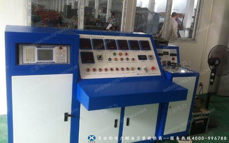 浩莱变压器厂变压器综合测试台现场试验图