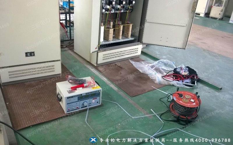 安徽铜陵铜能公司低压耐压测试仪现场试验图