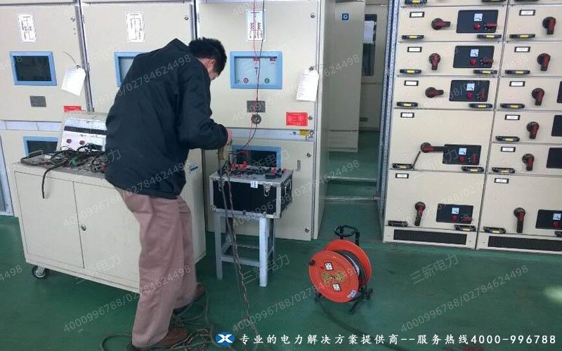 安徽铜陵铜能公司SXJB单相继电保护测试仪现场调试图